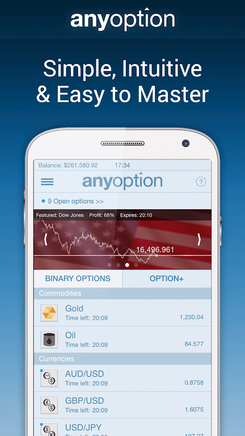 Binary Options - anyoption Screenshot 1