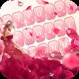 Red Rose Girl Keyboard Theme
