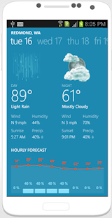 Weather Offline screenshot for Android