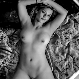 icandy by Gerrit de Graaff - Nudes & Boudoir Artistic Nude ( goals, body, blonde, nude, girl, naughty, black and white, bed, beautiful, beauty, boobs )