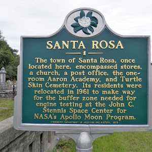 The town of Santa Rosa, once located here, encompassed stores, a church, a post office, the one- room Aaron Academy, and Turtle Skin Cemetery. Its residents were relocated in 1961 to make way for the ...