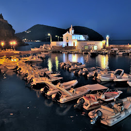 Lipari by Tomasz Budziak - City,  Street & Park  Night ( city, night, italy )