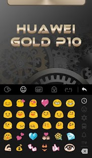 HUAWEI Gold P10 Keyboard Theme Screenshot