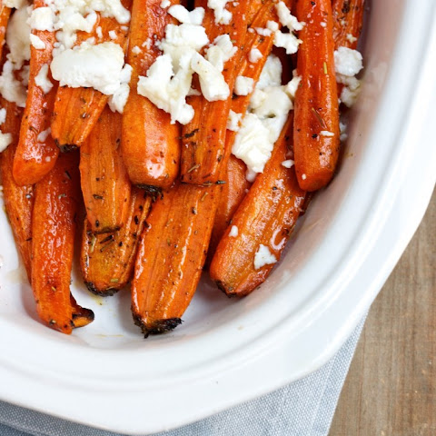 Provence Roasted Carrots with Chèvre and Orange Blossom Honey