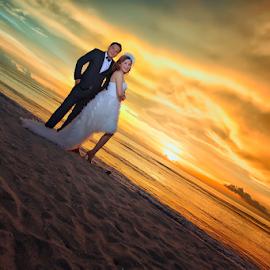 by Chandra Wirawan - Wedding Bride & Groom