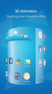 CM Launcher 3D - Theme, Boost Screenshot
