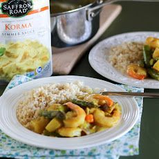 Shrimp and Asparagus Korma