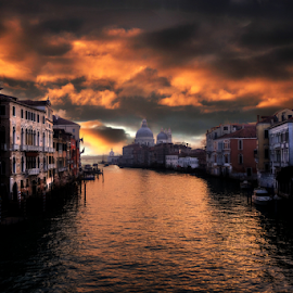 Before the storm in Venice by Igor Rosina - Landscapes Sunsets & Sunrises ( clouds, grand canal, venice, sunrise, storm )