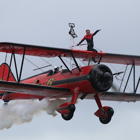 Wing Walker I by Per Holt Oksen-Larsen - Transportation Other ( wing, plane, a, on, walker,  )
