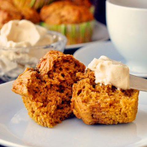 PUMPKIN SPICE CHOCOLATE MUFFINS WITH CREAM CHEESE ICING Recipe ...