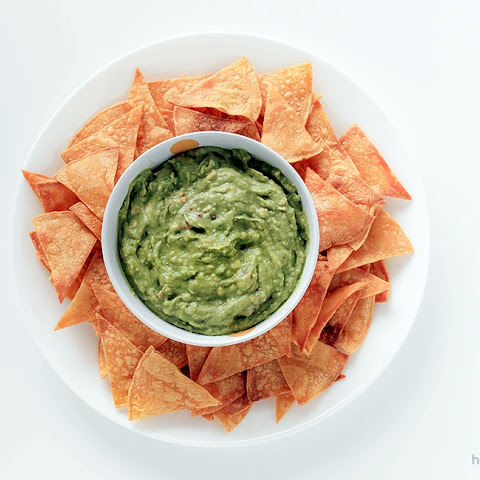 Perfect Guacamole with Homemade Tortilla Chips