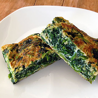Spinach Tamagoyaki (Spinach-packed omelette)