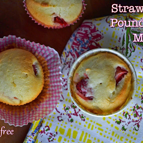 Gluten-Free Strawberry Pound Cake Muffins