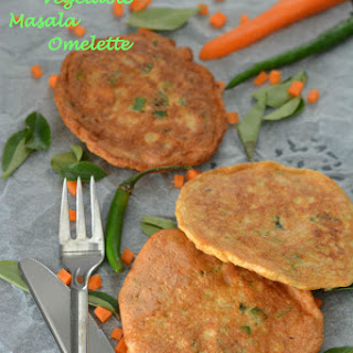 Egg White Vegetable Masala Omelet