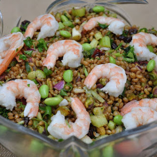 Curried Wheat Berry Salad with Shrimp