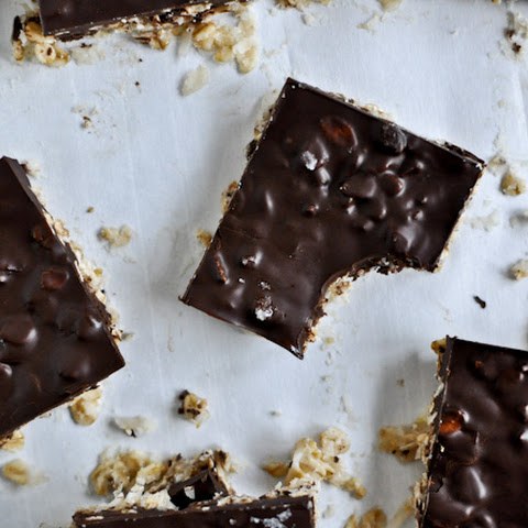 Thin + Chewy Chocolate Drenched Coconut Oatmeal Squares
