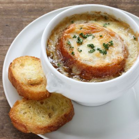 Warm Crockpot French Onion Soup