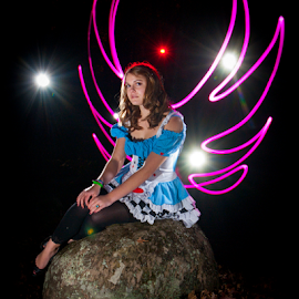 Angel in Disguise  by Myra Brizendine Wilson - Abstract Light Painting ( light painting, light painting photography,  )