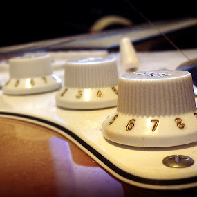 Guitar Knobs by Jackson Visser - Artistic Objects Musical Instruments ( music, electric, guitar, instrument, knobs, close up )