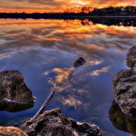Rock Tops by DE Grabenstein - Landscapes Waterscapes