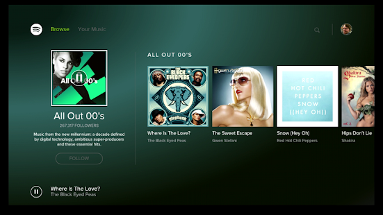 Spotify Music - for Android TV Screenshot