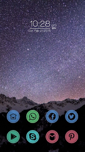 Beautiful starry theme - screenshot