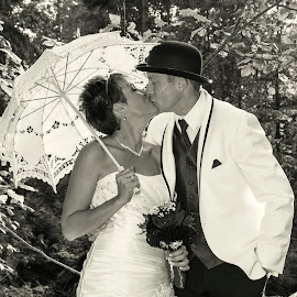 The Kiss by Andrea Ayotte - People Couples ( kiss, wedding photography, kissing, weddings, wedding )