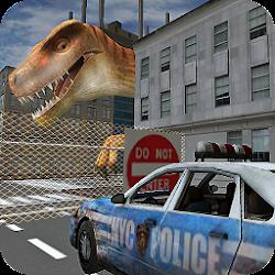 Dino in CityDinosaur N Police