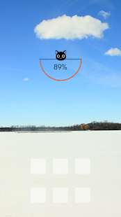 Bright blue sky winter theme - screenshot