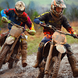 I'll Get You Still! by Marco Bertamé - Sports & Fitness Motorsports ( curve, following, mud, follower, bike, rainy, motocross, leading, leader, race, competition )