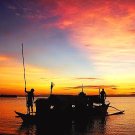 Journey by Karen Lee - Transportation Boats ( sailing, boat, communal living, wooden boat )