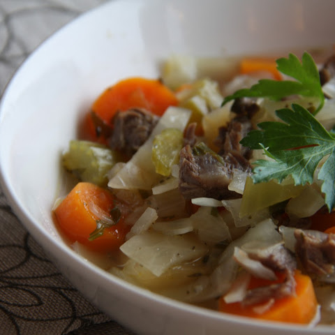 Beef Shank Vegetable Soup (AIP, Paleo)