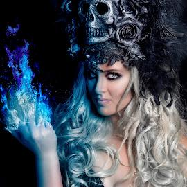 UNTITLED by Michal Challa Viljoen - Digital Art People ( darknes, color, female, beauty, composite, portrait )