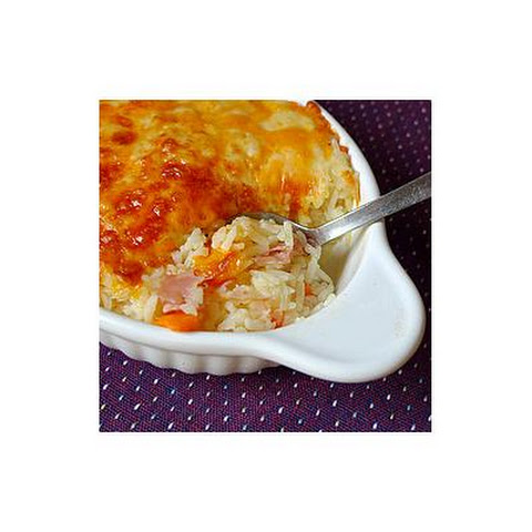 Easy Cheesy Baked Rice