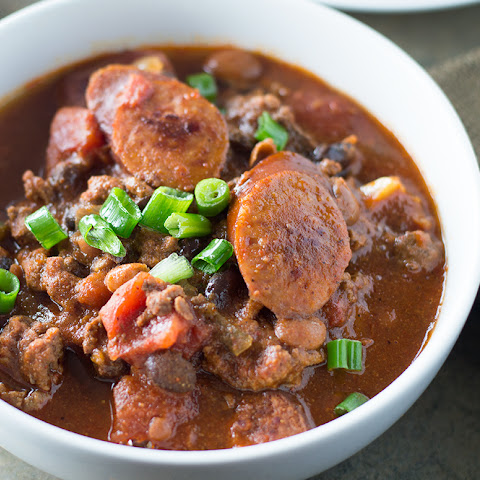 Spicy Black Bean and Sausage Chili