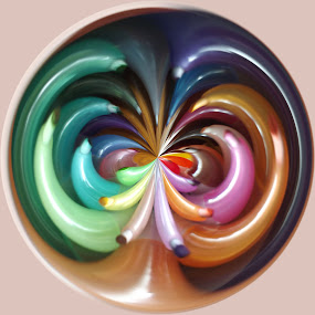by Colleen Legree - Abstract Fine Art ( abstract, colors, fine art, circle, rainbow )