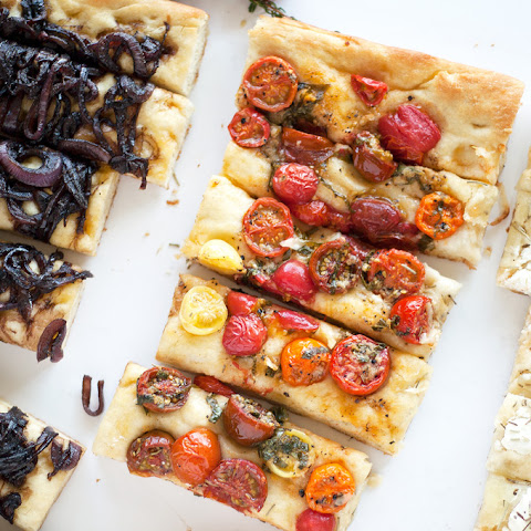Balsamic Onion, Heirloom Tomato And Three Cheese Focaccia