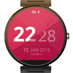 Digital Watch Face - Slider