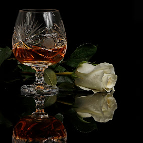 Brandy and flower by Cristobal Garciaferro Rubio - Food & Drink Alcohol & Drinks