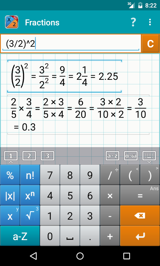 Fraction Calculator + Math PRO Screenshot 1