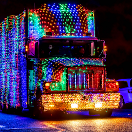 Truck Parade by Darren Sutherland - Public Holidays Christmas