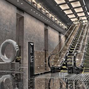 Möbius loop by Ryusuke Komori - Buildings & Architecture Office Buildings & Hotels ( office, ring, elevator, japan, osaka )