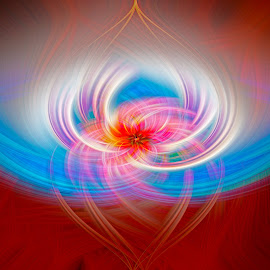 Blossom by J Licht - Abstract Patterns ( red, blue, twirl, manipulation, colours, photoshop )