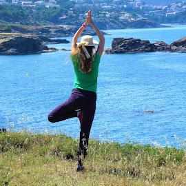 by Svetlana Saenkova - Sports & Fitness Other Sports ( blue water, yoga )