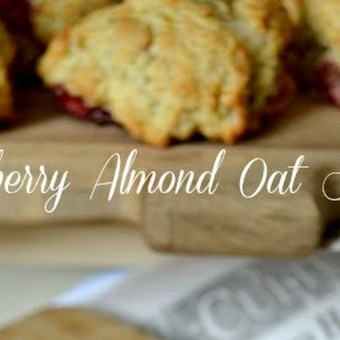 Raspberry Almond Oat Scones