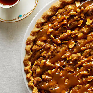 Salted Caramel Peanut Butter Fudge Pie