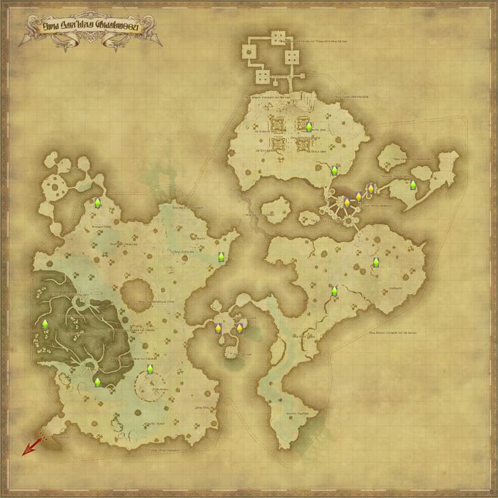 ラケティカ大森林 風脈の泉 地図