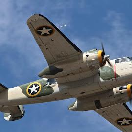 Killer B in Flight by Jim Baker - Transportation Airplanes