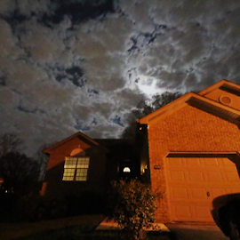 Haunted Skies by Joel Eade - Buildings & Architecture Homes ( cool, clouds, awesome, spooky, house, haunted, perfect, pretty, nightscape )