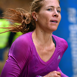 Strong Lady by Marco Bertamé - Sports & Fitness Other Sports ( differdange, purple, 2015, 1747, number, long, running, luxembourg, strong, woman, lady, brown, strongmanrun, hair )
